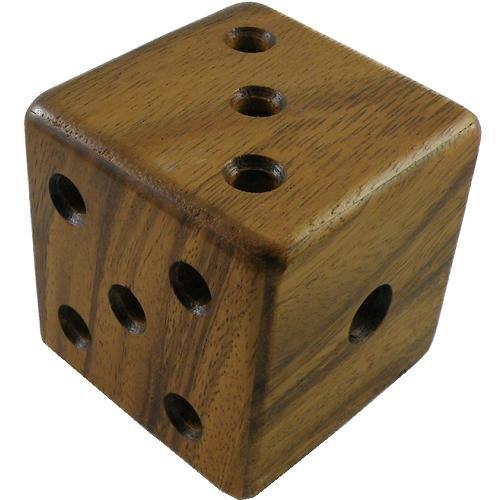 Magic Dice Cube Puzzle Wooden Brain - Dice Brain Teaser