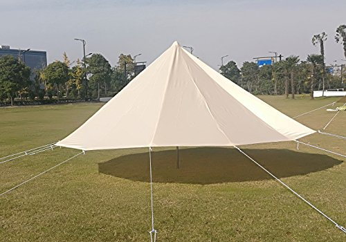 DANCHEL Stand Bell Tent With Top Stove Jacket, Light Khaki, Size 13.1ft