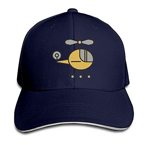 SNMHILL Men Women Helicopter Cartoon Fashion Peaked Sandwich Hat Sports Adjustable Baseball Cap Unisex