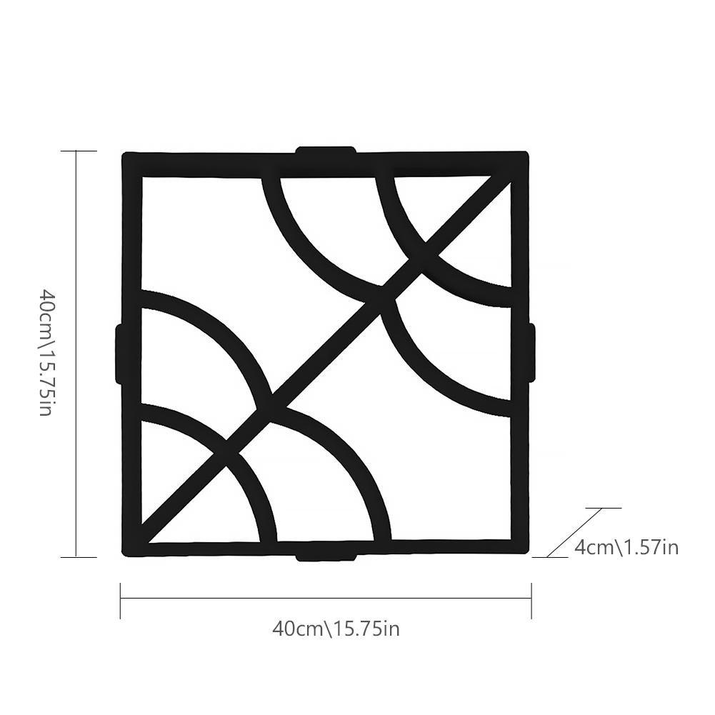 Kbsin212 Molde de Resina Hacer moldes de Suelo, hormigón, Molde de Piedra para Escalar en el jardín, Patio, Pasillo, pavimento, 40 x 40 x 4 cm: Amazon.es: ...