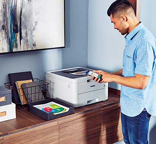 Brother HL-L3210CW Compact Digital Color Printer Providing Laser Printer Quality Results with Wireless, Amazon Dash Replenishment Ready, White 51UmW3Th07L