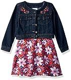 Nannette Toddler Girls' 2 Piece Denim Jacket Dress Outfit Set, Pink, 2T
