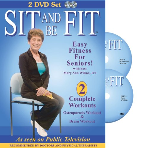 Sit and Be Fit: Osteoporosis and Brain Chair Exercise Workout for Seniors. Award-Winning, 2 DVD Set, Stretching, Strength, Balance, flexibility, muscle and bone strength, circulation, heart health, and stability, Developed By Mary Ann Wilson, RN (Sit And Be Fit Brain And Balance)