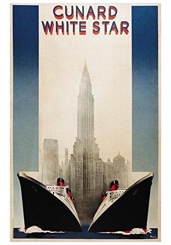 Cunard Art Print by A. Roquin 28 x 39in