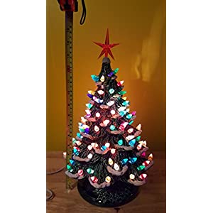 "Ceramic Christmas Tree 15"" tall w/Snow 37"