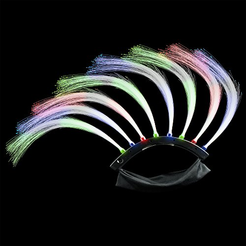 Fun Central AJ300 LED Light Up Fiber Optic Glow in the Darkhawk