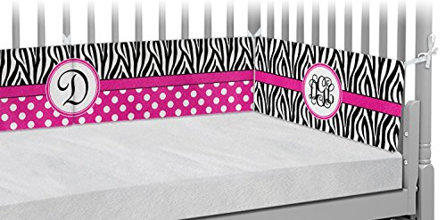 Zebra Print Crib Bumper Pads (Personalized) by RNK Shops