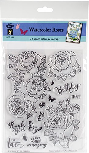 Hot Off The Press (Watercolor Roses) -