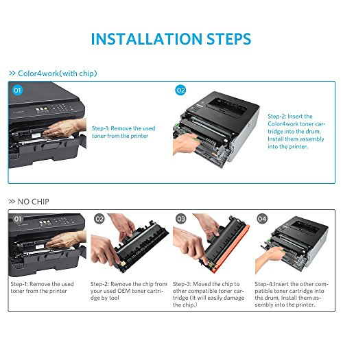 Color4work Compatible Brother High Yield  Toner Cartridge TN760 TN-760 Black, 1-Pack, use with DR730 Drum Unit for HL-L2350DW DCP-L2550DW MFC-L2710DW MFC-L2750DW HL-L2395DW HL-L2390DW HL-L2370DW Photo #8