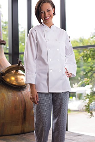 Uncommon Threads Women's Napa Fit Chef Coat, White, X-Large