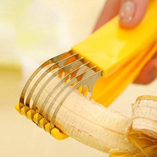 New Banana Slicer Chopper Kitchen Accessories Fruit Cutter Cucumber Salad Tool
