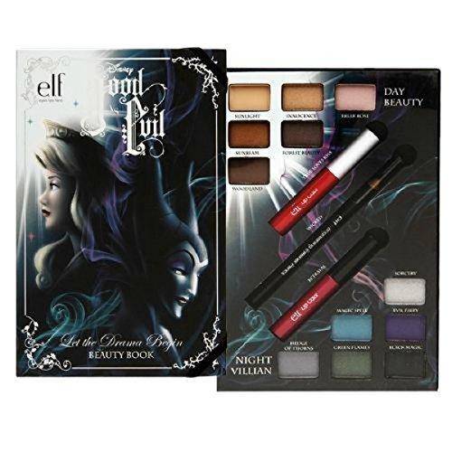 e.l.f. Disney Good vs Evil Beauty Book Day Beauty Night Villian by ELF eyes lips face