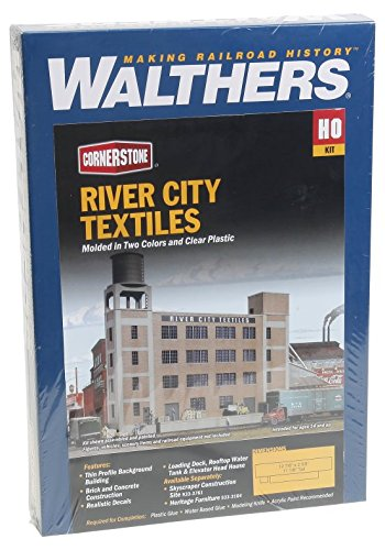 Ho Scale Cornerstone Background Building - Walthers Cornerstone Series174 HO Scale Background Building - Kit River City Textiles - 12-7/8