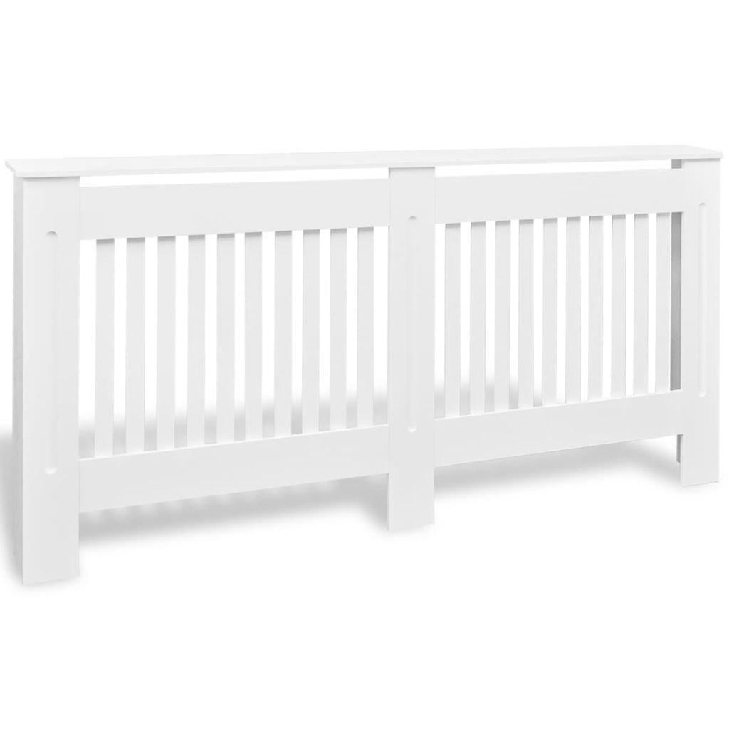 vidaXL Cache-radiateur pour Salon Armoire Murale Rangement Blanc MDF 172 cm