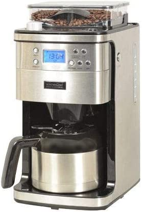 KitchenChef KCP4266 Independiente Semi-automática - Cafetera (Independiente, Cafetera de filtro, 1,2 L, Molinillo integrado, 1000 W, Acero inoxidable): Amazon.es: Hogar
