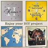 VANGOLD Large Frameless Wall Clock Sticker DIY Wall