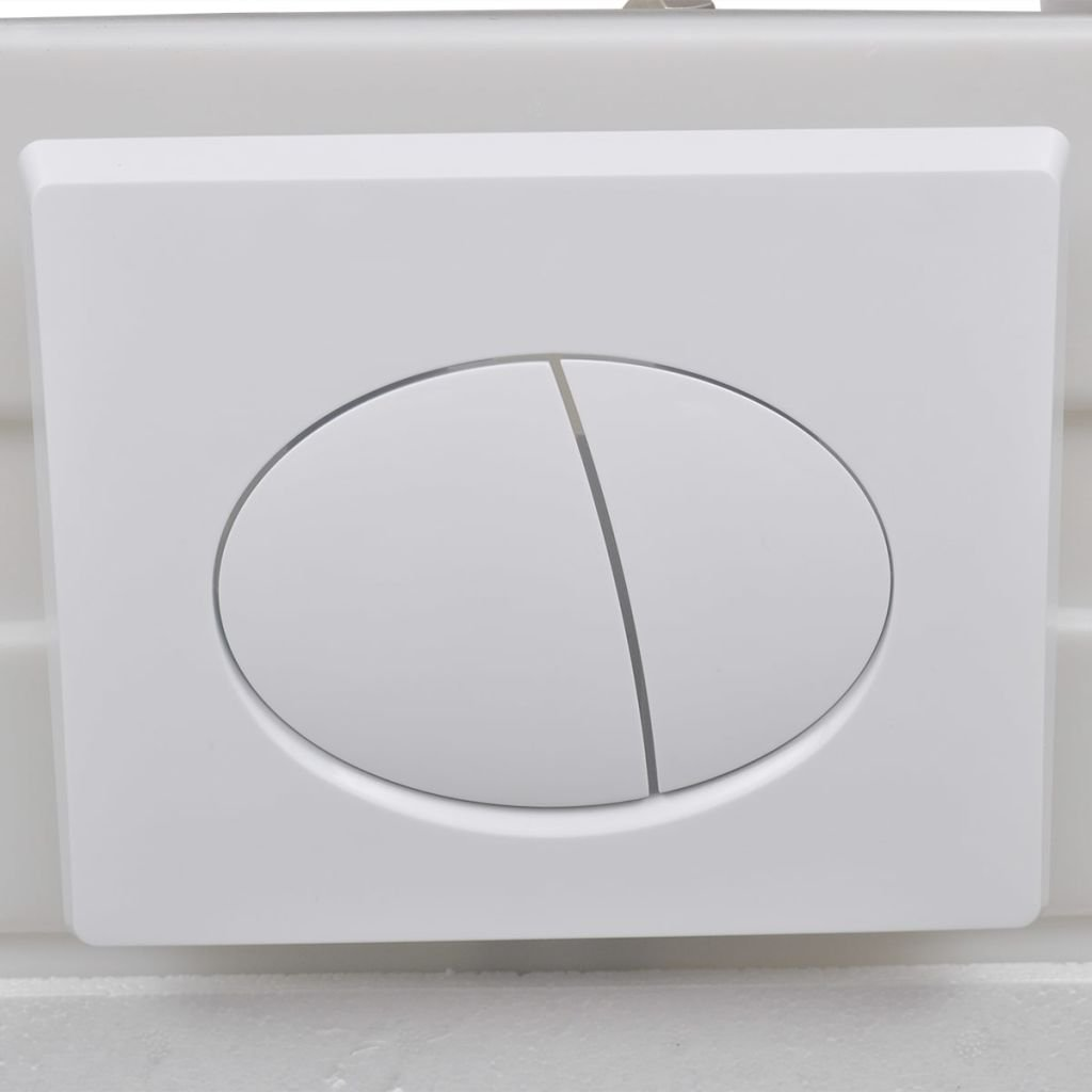 Festnight Wall Toilet Concealed Cistern 11 L 41x14x 110-125 cm with Wall Hung Frame White and blue