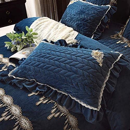 MIEMIE Ensembles de literie, jetés de lit en Coton et Couvre-Lits Double Taille Style Rural américain Couverture Douillette Douce Couverture de Couverture réversible