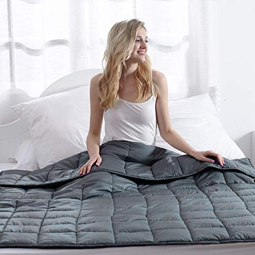 Weighted Blanket with Material and Glass Beads for Grey