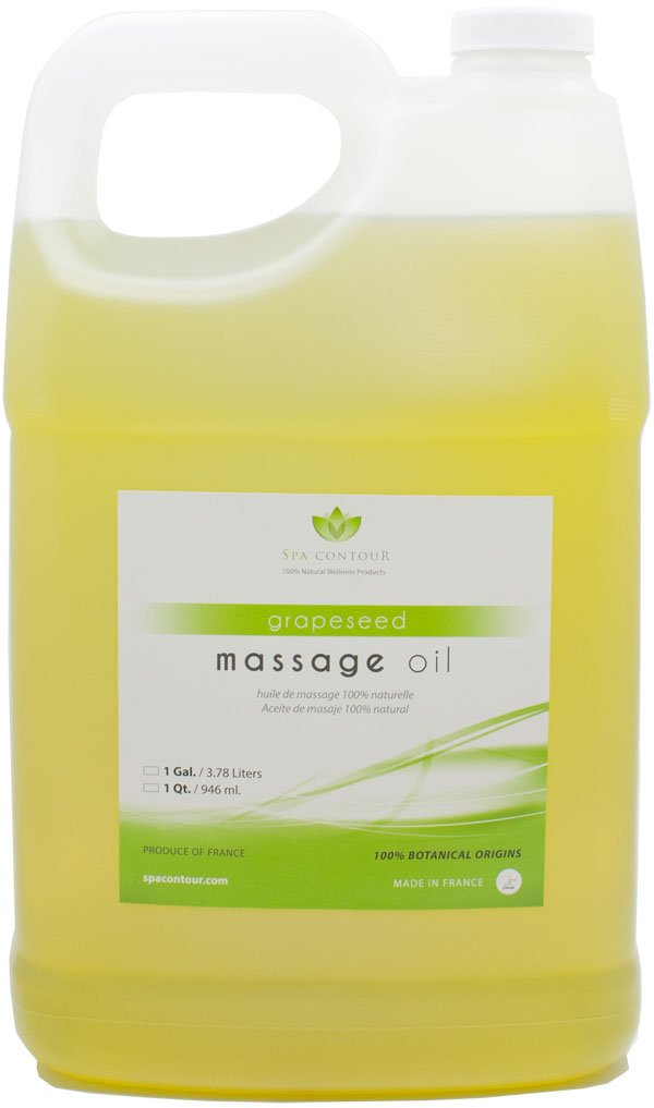 Spa Contour Grapeseed Massage Oil 1 Gallon (Unscented)