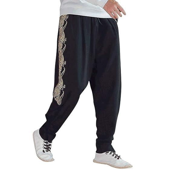 Pantalones Hombre Casual, Pantalón Running Hombre Pant Estampado ...