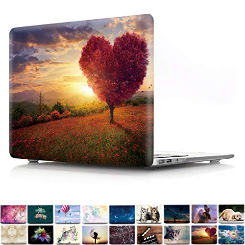 (PapyHall Newest 2 in 1 Color Printing Plastic Shell Cove for 2015/2014/2013/2012 Ver MacBook Pro 15 inch with Retian Display Model: A1398, No CD-ROM Heart Tree)