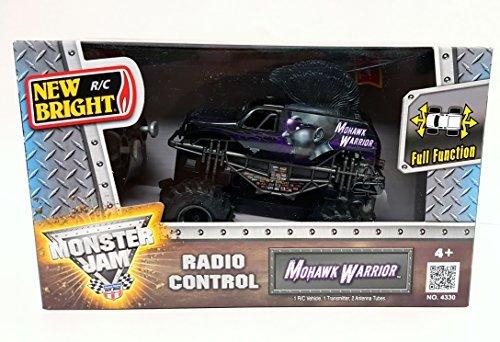 - New Bright RC Radio Control Monster Jam Truck Mohawk Warrior 1:43