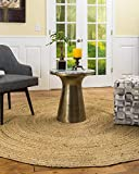 Natural Area Rugs 100% Natural Fiber Handmade Reversible Elsinore Jute 5' Round Rug Beige