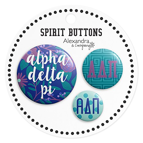 Alexandra And Company Buttons, Alpha Delta Pi