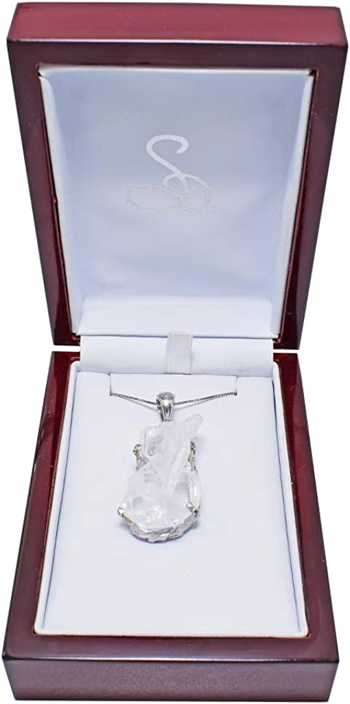 Faden Quartz Crystal Pendant Necklace by Stones Desire