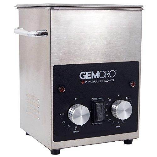 GemOro 2QTH Next Gen Stainless Steel Ultrasonic Jewelry Cleaner With Basket (Ultrasonic Jewelry Cleaner Gemoro)