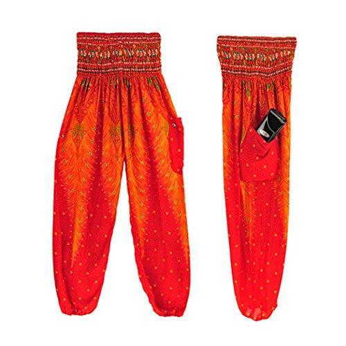 Bovake - Leggings sportivi -  donna Nero Red X-Large