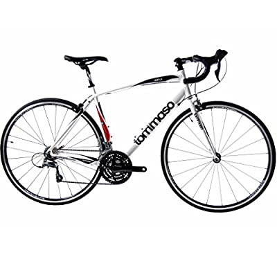 Tommaso Imola Lightweight Aluminum Sport Road Bike - Italian Heritage and Craftsmenship, Upgraded Shimano Gears