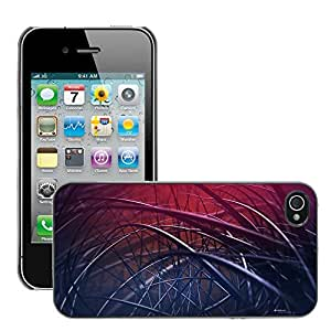 Hot Style Cell Phone PC Hard Case Cover // M00044009 abstract artistic black // Apple iPhone 4 4S