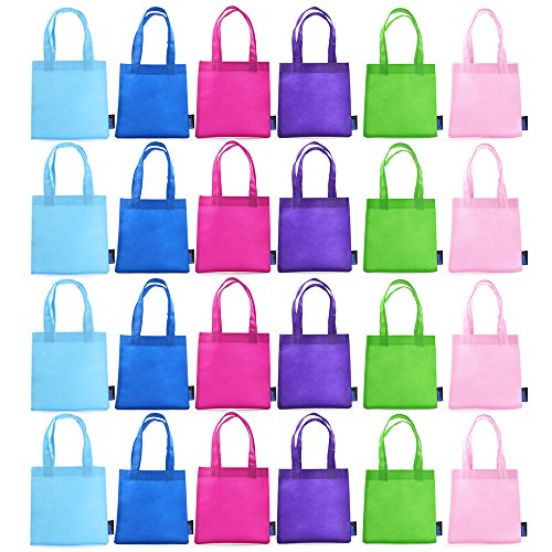 "BCP 9"" Assorted Colors 24pcs Small Non-woven Reusable Kids C"