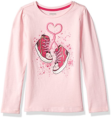 2t Gymboree Girl - Gymboree Girls' Toddler Long Sleeve Graphic Tee, Pink Cadillac, 2T