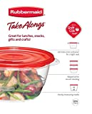 Rubbermaid TakeAlongs Food Storage Container, Divided Dishes, Set of 3, 3.7-cup, Chili