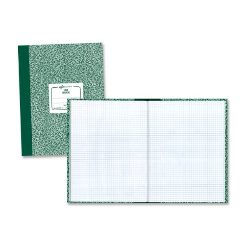 National Brand Lab Book, 5 x 5 Quad, Green Marble, 10.125 x 7.875 Inches, 60 Sheets - Ampad Notebook Computation