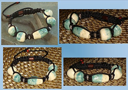 mens-blue-cream-with-fine-silver-stars-ceramic-bead-tibetan-shamballa-woven-bracelet-male-masculine-