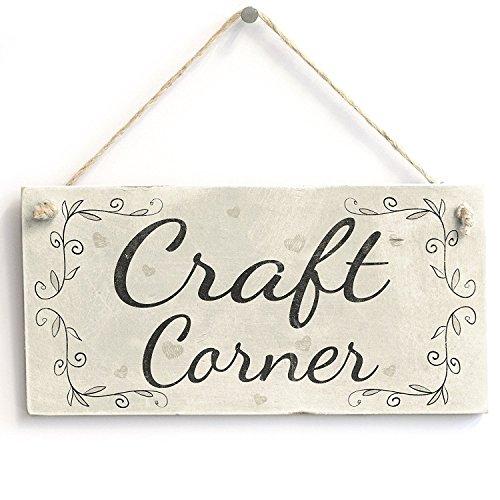 """Meijiafei Craft Corner Rustic Country Decor Door Sign/Plaque Craft Room 10""""x5"""""""