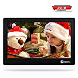 Arzopa Digital Photo Frame10-inch IPS Screen Widescreen HD 16:9 Digital Photo Frame Support MP3 MP4 Video Player Calendar Random Playback Mode with Remote Control Black (Upgrade Edition)
