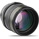 Opteka 85mm f/1.8 Aspherical Telephoto Portrait Lens for Nikon D5, D4s, D4, D3x, Df, D810, D800, D750, D610, D500, D7500, D7200, D7100, D5600, D5500, D5300, D5200, D3400, D3300 Digital SLR Cameras