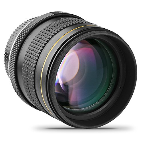 Opteka 85mm f/1.8 Manual Focus Aspherical Medium Telephoto Lens for Canon EOS 80D, 70D, 60D, 60Da, 50D, 7D, 6D, 5D, 5DS, 1Ds, Rebel T6s, T6i, T6, T5i, T5, T4i, T3i, T3, T2i and SL1 Digital SLR Cameras by Opteka