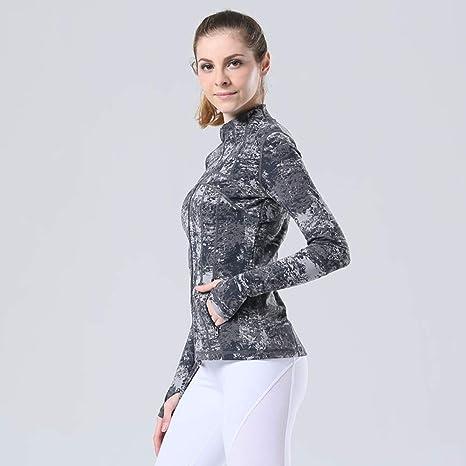 Grist CC Camiseta Deportiva De Manga Larga para Mujer Correr Yoga Senderismo,Gray,M: Amazon.es: Deportes y aire libre
