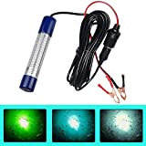 AGOOL Underwater Fishing Light Super Bright Lure Bait Finder Night Fishing Light 180 LED Lamp 12V-24V with Battery Clip & Power Plug for Shrimp, Prawns, Squid and Fish