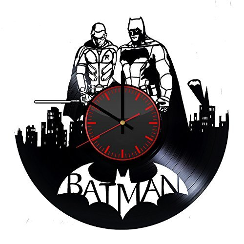 Taniastore Batman Superhero Vinyl Record Wall Clock Unique Gifts For Him Her Gift Ideas Mothers