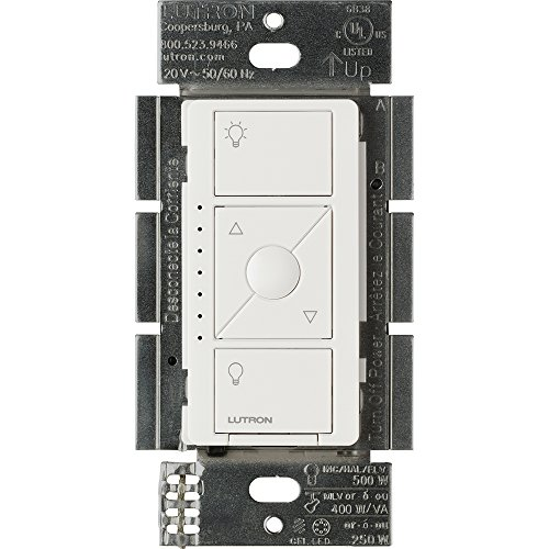 Lutron Caseta Wireless Smart Lighting ELV Dimmer Switch for Electronic Low Voltage Light Bulbs, PD-5NE-WH, White