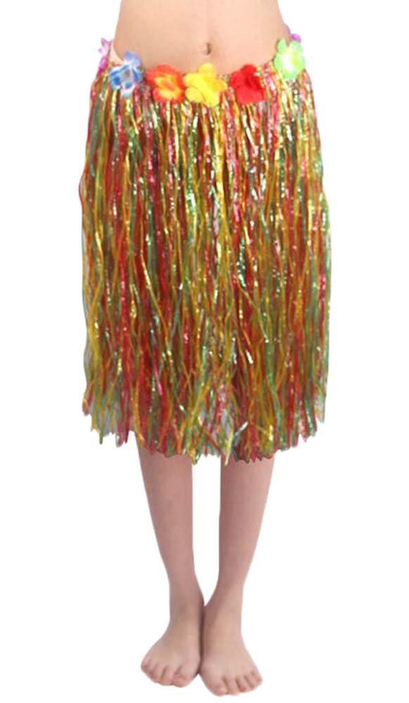 Flores Hula adultos falda de hierba para la fiesta traje Black Temptation