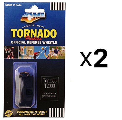 Acme Tornado Plastic Pealess Official Referee Coach Whistle T2000 (Acme Plastic Whistle)