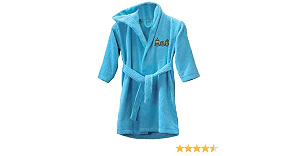 CTI 043019 - Albornoz para niños de 6 a 8 años, diseño de Los Minions, color azul: Amazon.es: Hogar